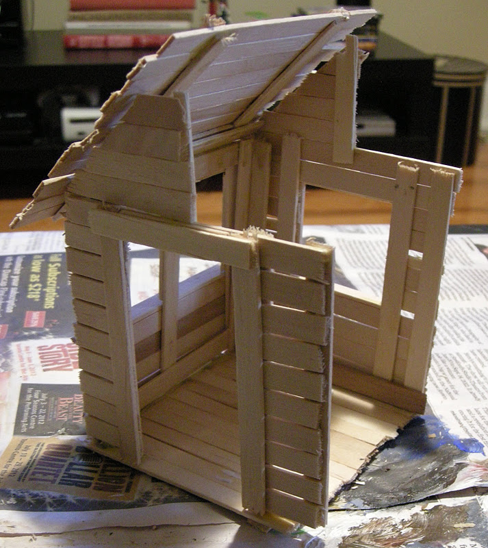 Any How Town Building A Popsicle Stick House Final Steps
