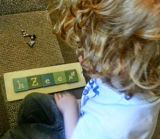 Tiny Me Wooden Name Block Puzzles review I can spell