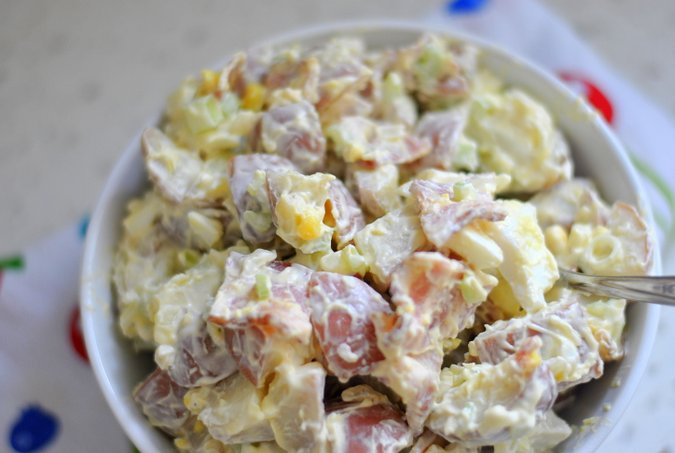 creamy bacon potato salad