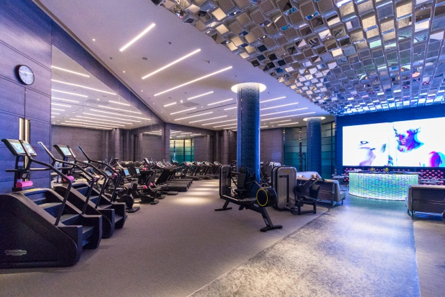 fitness gym at W Hotel Xi'an China