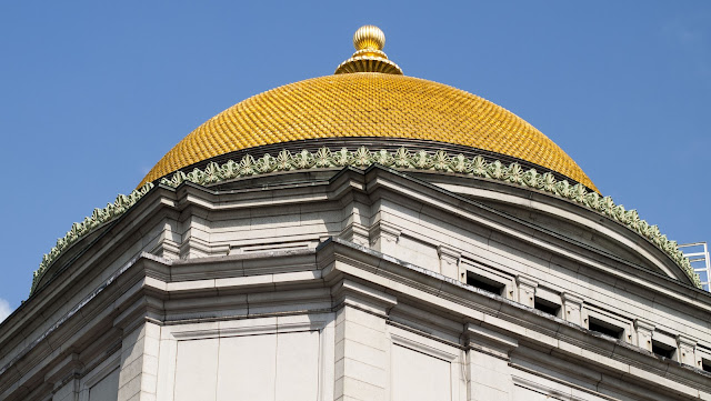 A self-guided architecture walk in downtown Buffalo: Gold dome of Buffalo Savings Bank