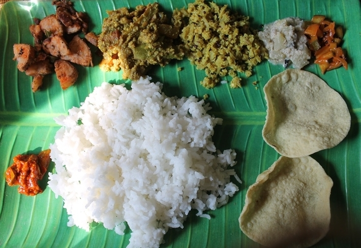 Lunch Menu 6 Simple South Indian Thali