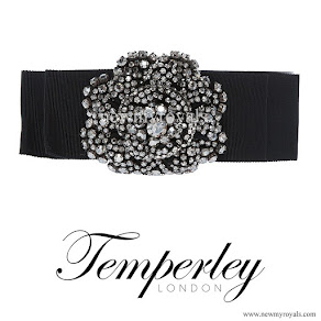 Kate Middleton wore TEMPERLEY LONDON Crystal Bow Belt
