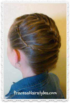 waterfall twist braid and french braid hairstyle