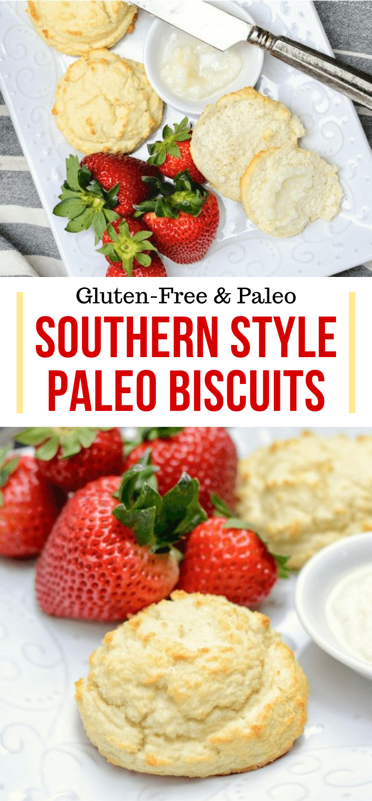 Southern Style Fluffy Paleo Biscuits (Keto & Low Carb) #ketogenicdiet #healthyrecipe