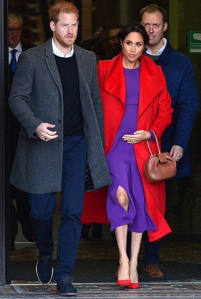 Meghan Markle wore ARITZIA Babaton Maxwell dress, and Sentaler coat