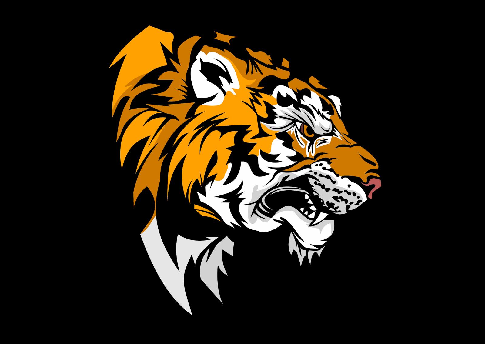 tiger head logo - HD1600×1135