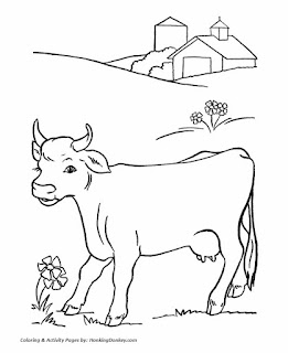 Free Printable Cow Coloring Sheet Animals For Kids