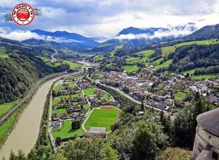 Vistas desde Hohenwerfen, Austria
