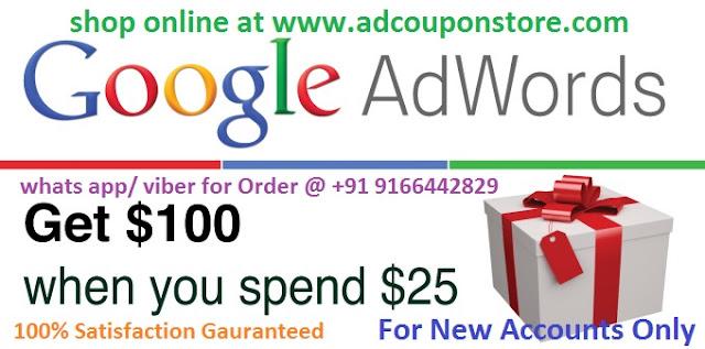 100 AUD Google adwords coupon code , Voucher CODE, Promo Code
