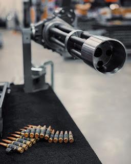 Minigun Kaliber .338NM Buatan Dillon Aero