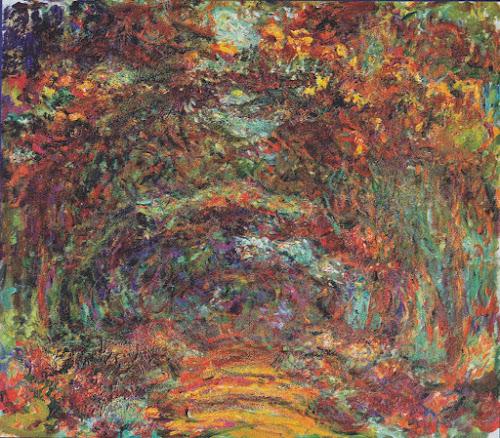 Túnel de rosal en Giverny - Monet