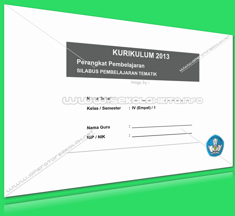 SILABUS KURIKULUM 2013 INTEGRASI KELAS 4 UPDATE REVISI 2016