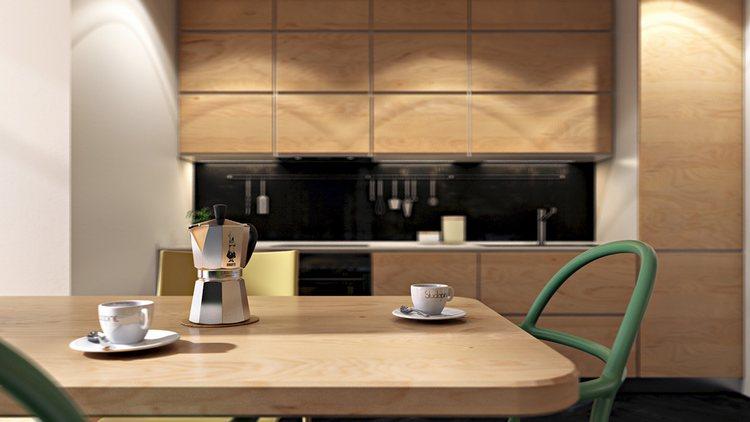 thiết kế bộ bàn ghế nhà ăn hiện đại