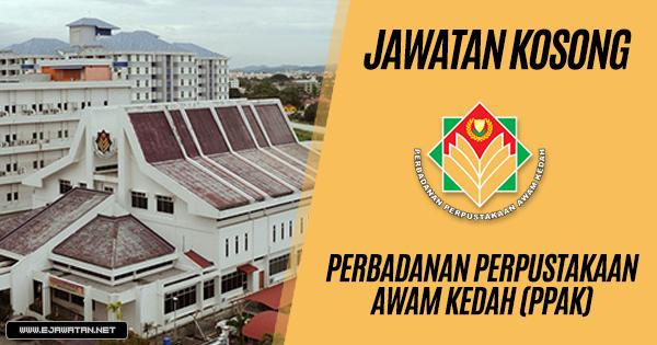 jawatan kosong kerajaan Perbadanan Perpustakaan Awam Kedah 2018