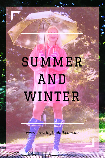 It's all about Summer and Winter on my social media - I love that I can choose to have a  Summer mindset