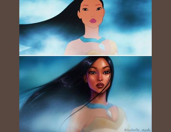 Personagens Desenhos Isabelle Staub - Pocahontas