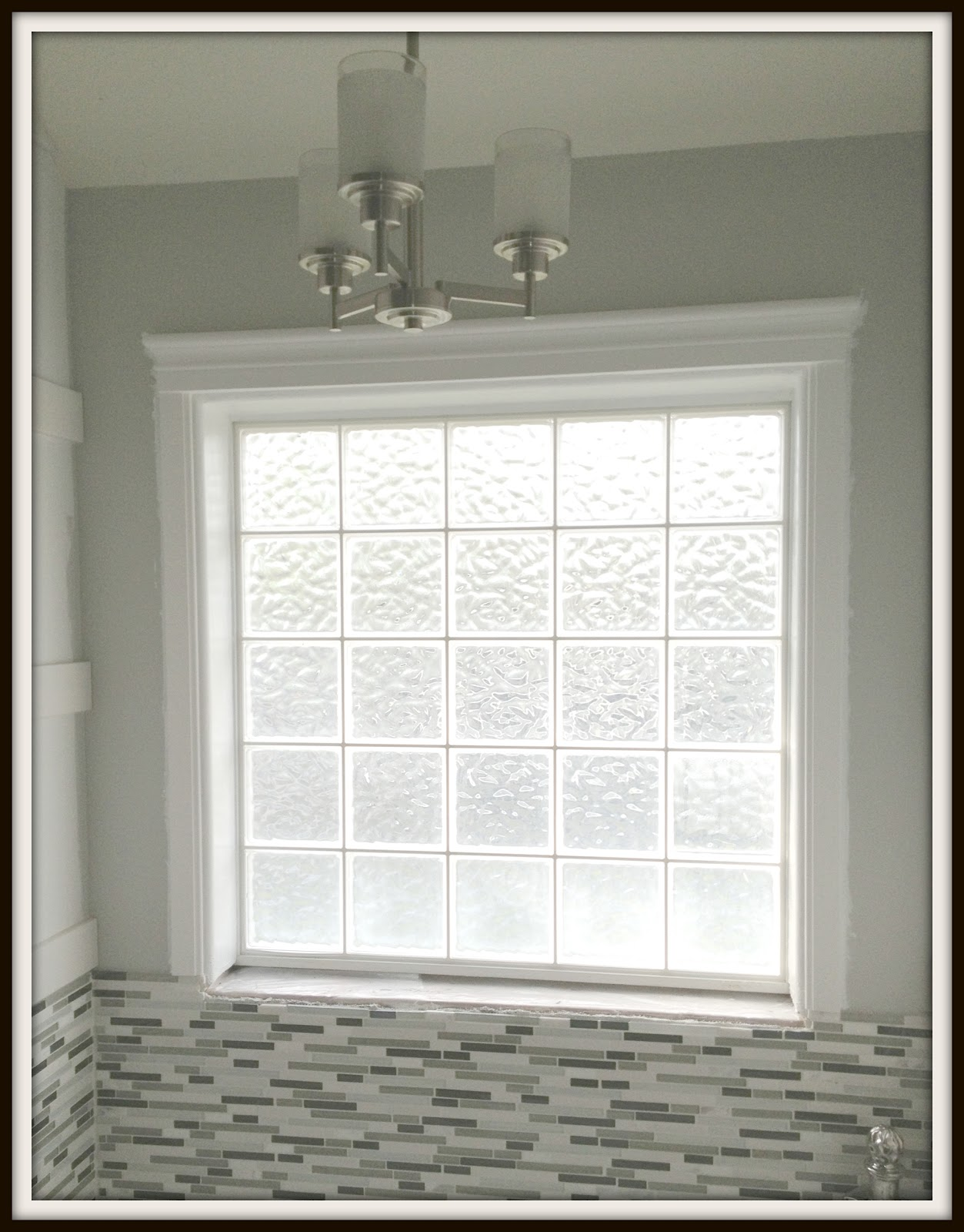 Engineering Life and Style Framing a Glass Block Bathroom WindowA Super Easy DIY Project