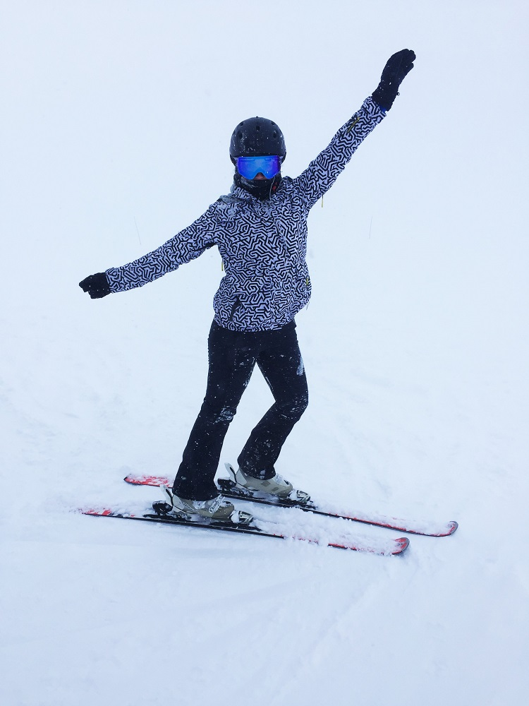 Emma Louise Layla skiing at Val Thorens - ski holiday in the French Alps - travel blog