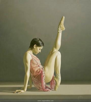 Oleo de Bailarina de Ballet al Óleo