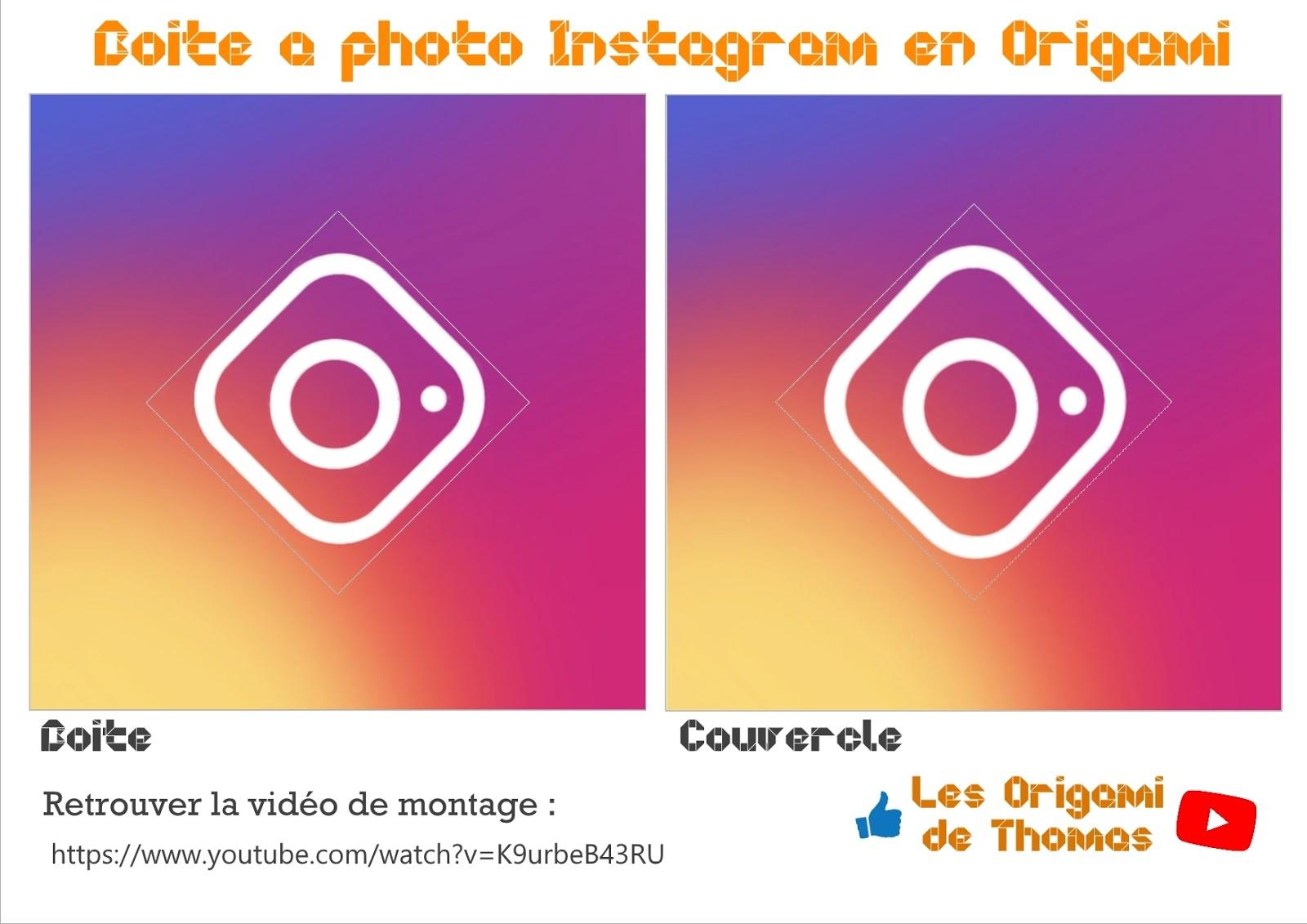 boite à photo instagram en papier origami !!!
