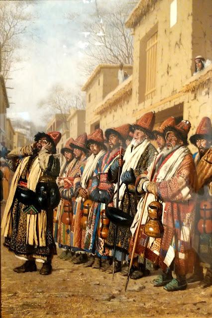 В.В. Верещагин Хор дервишей просящих милостыню, Ташкент, 1870 г.