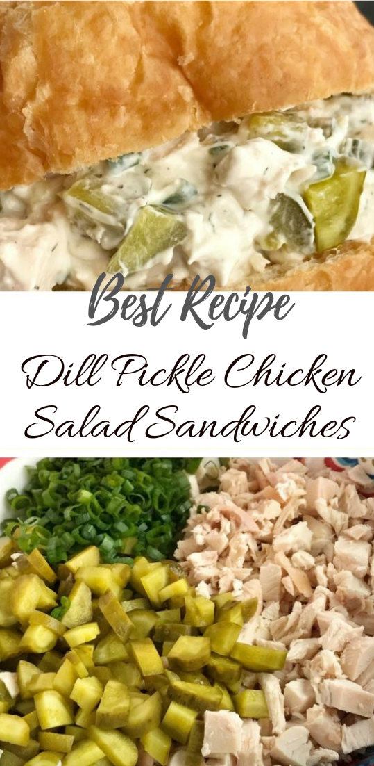 Dill Pickle Chicken Salad Sandwiches #healthyfood #dietketo