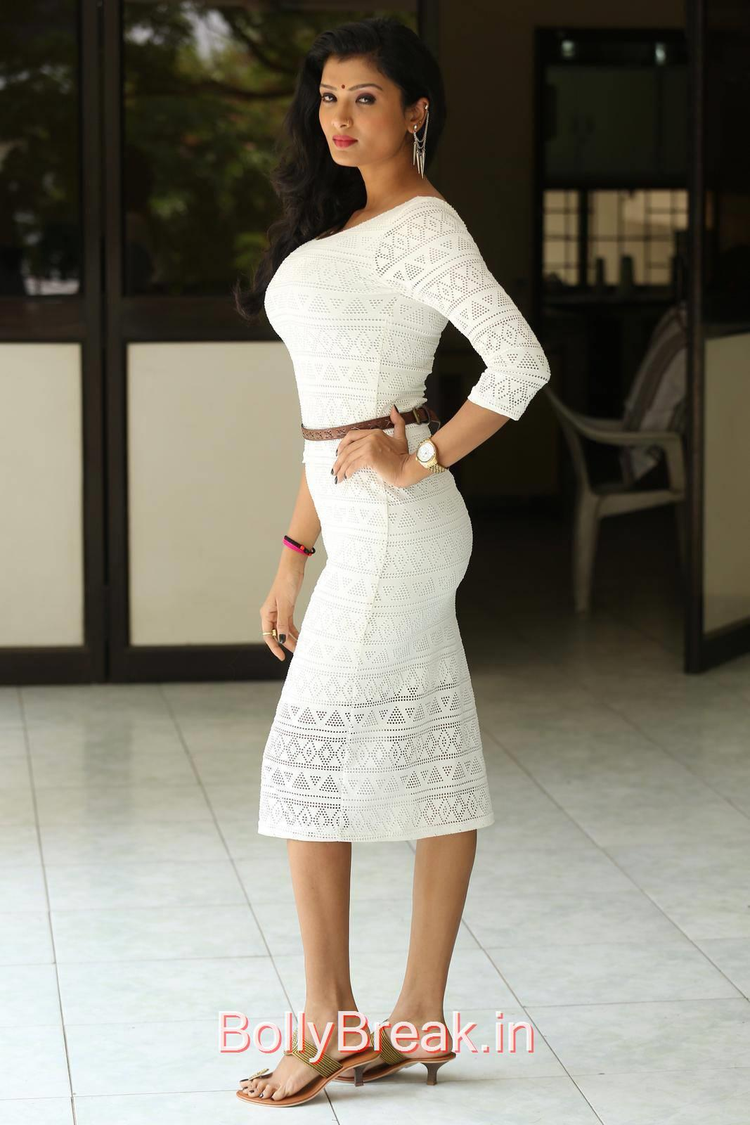 High Quality Ishita Pics, Actress Ishita Standing Full Size HD Hot Pics in White Dress