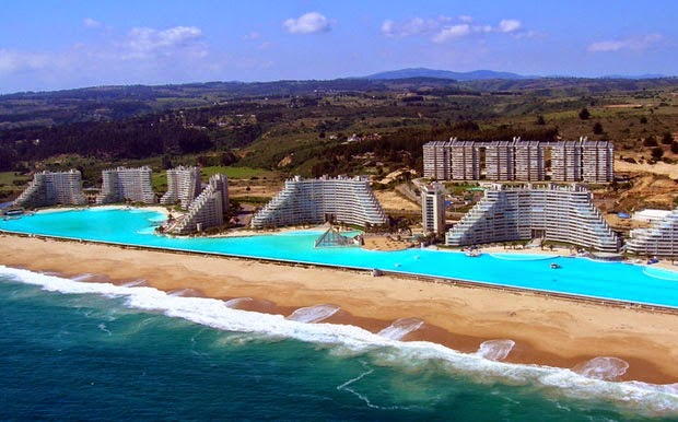 The San Alfonso del Mar Seawater Pool Algarrobo ที่ชิลี