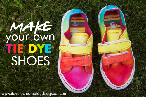 03f90b75f2d9e iLoveToCreate Blog: How to make Rainbow Tie Dye Shoes