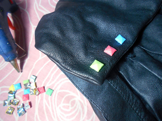 DIY Candy Color Studed Backpack