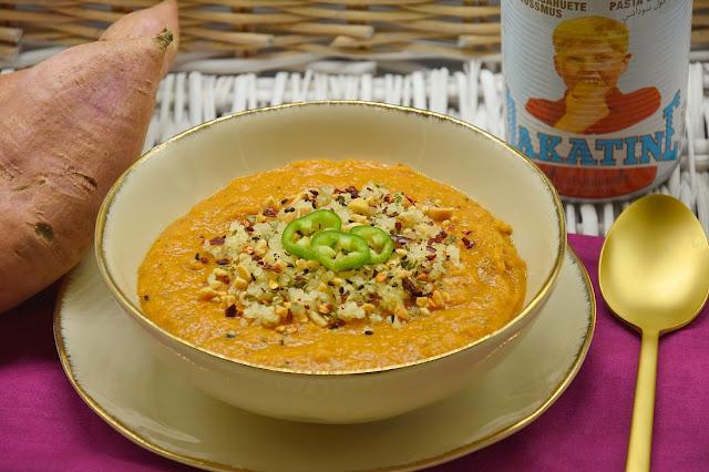soupe patates douces cacahuetes