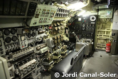 Interior de un submarino