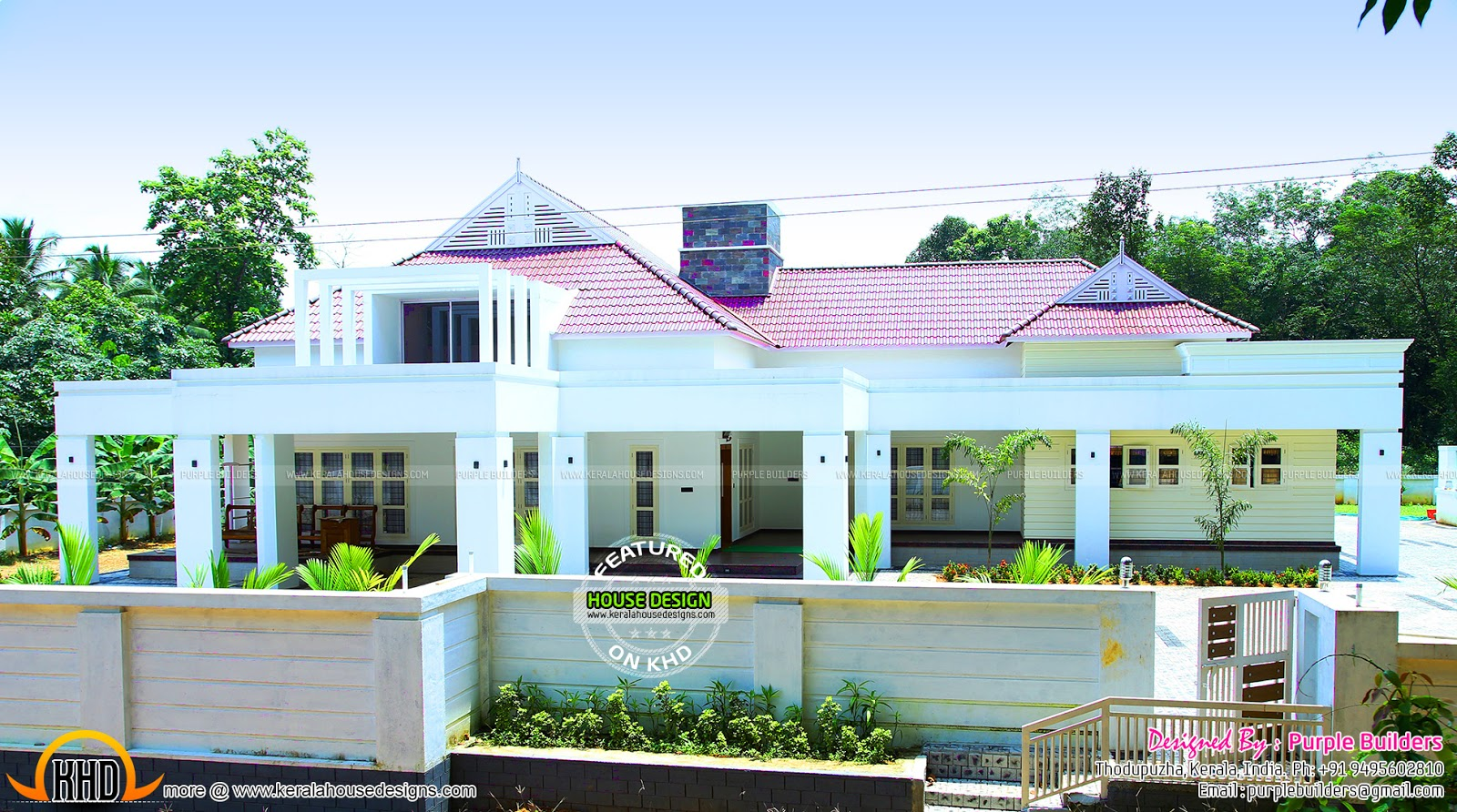 Beautiful finished house in kerala kerala home design for Beautiful small house plans in kerala