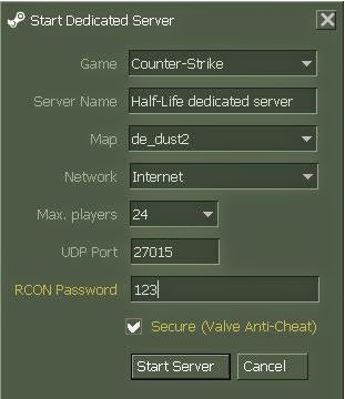 THE GAMING ZONE=-: HOW TO CREATE A COUNTER STRIKE 1 6 SERVER