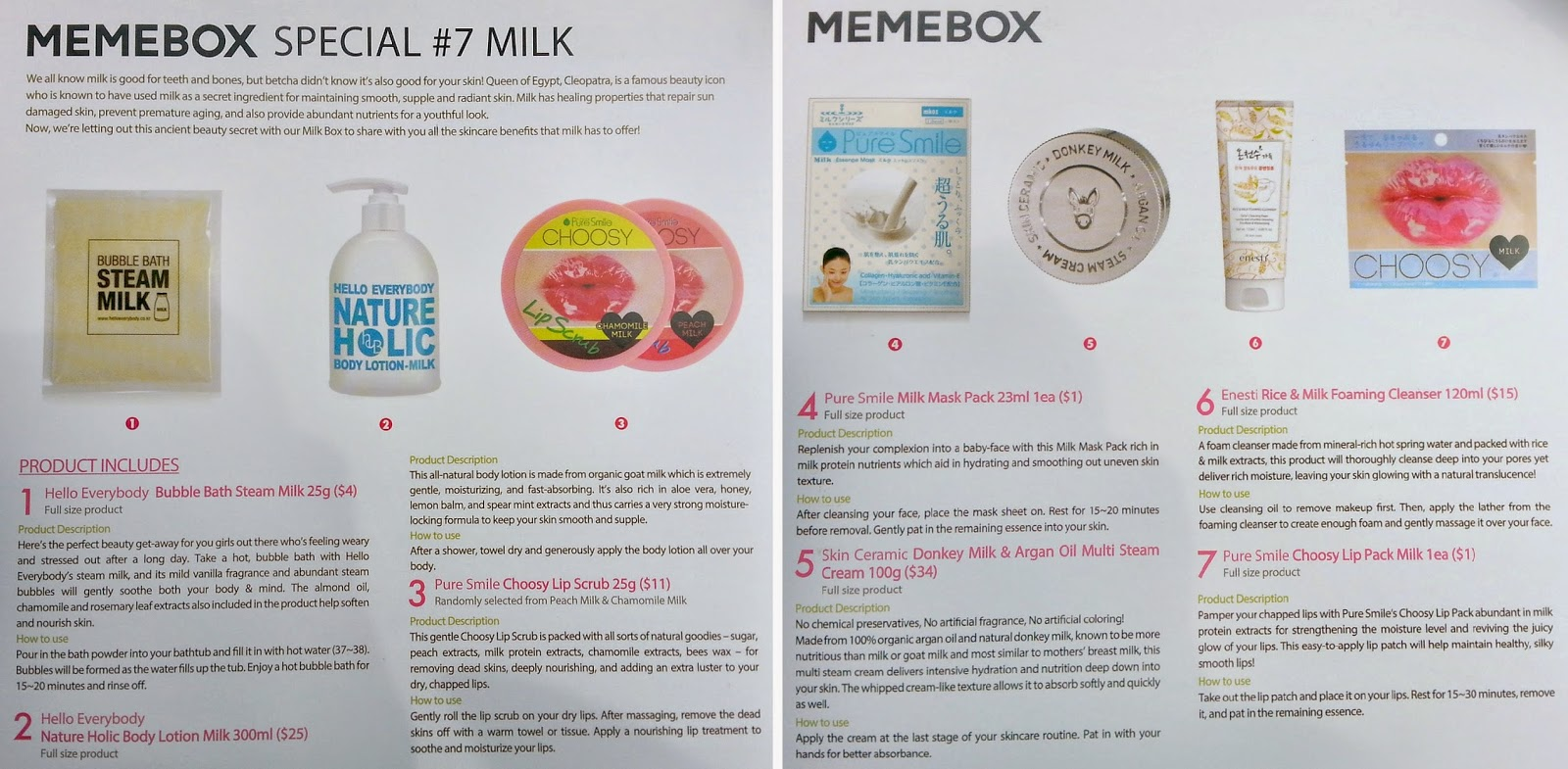 Memebox, Milk Skincare, Memebox Special #7 Milk