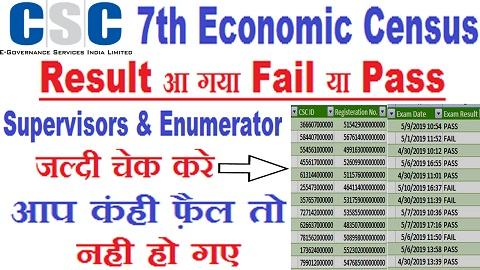 Economic Survey Enumerator Supervisors Exam Result