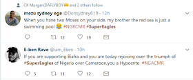 v54d - Reactions to the Super Eagles victory against Cameroon [Funny Photos]