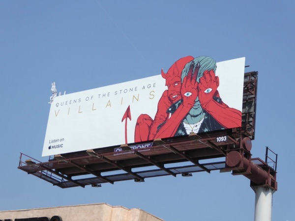 Queens of Stone Age Villains billboard