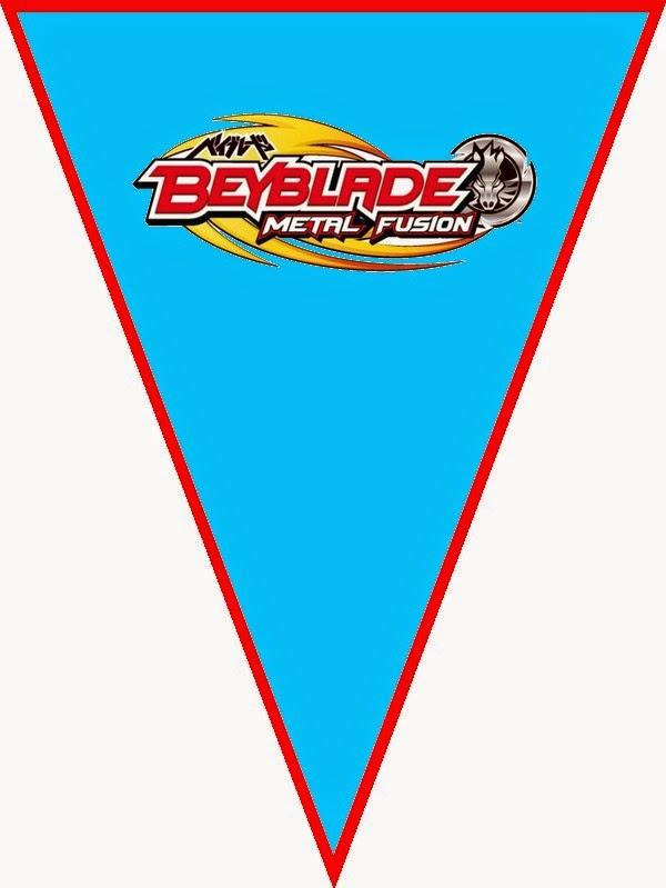 Banderines para Imprimir Gratis de Beyblade.