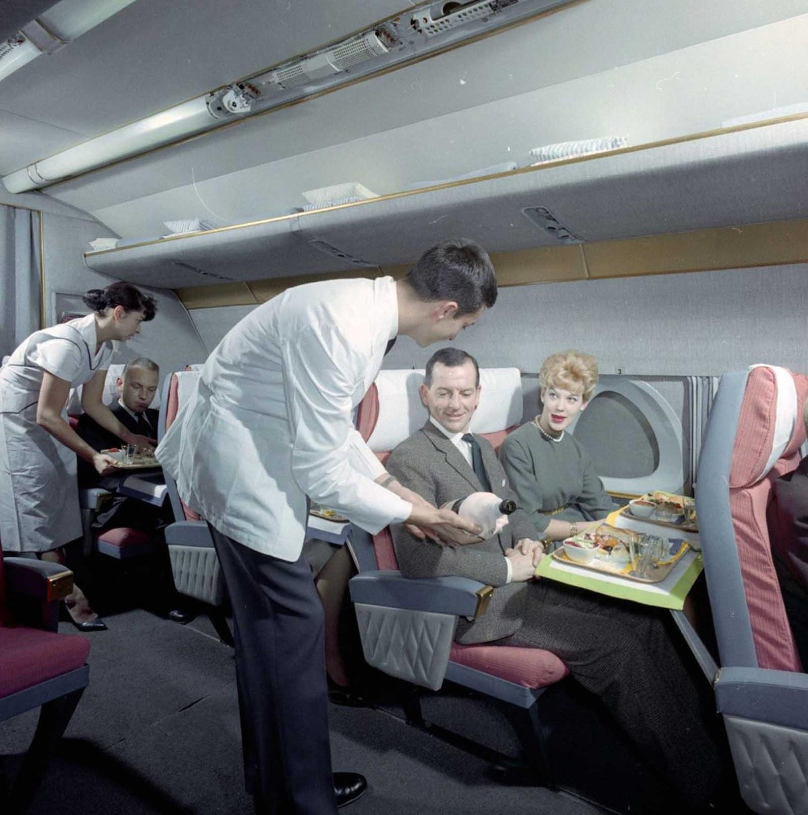 flying first class 1960s%2B%252810%2529 - Voando na primeira classe na década de 60
