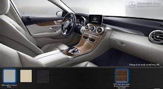 Nội thất Mercedes C250 Exclusive 2016 màu Xám Crystal 248