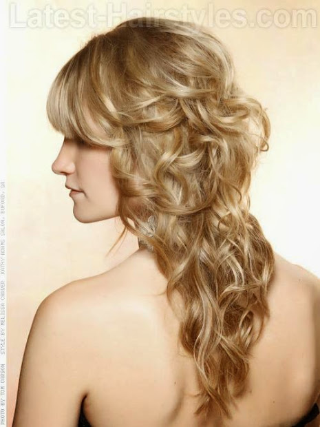 curly prom hairstyles in simple