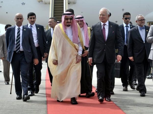 Raja Salman disambut Perdana Menteri Datuk Seri Najib Tun Razak