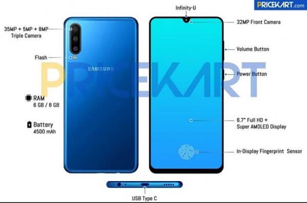 مواصفات هاتف Samsung Galaxy A60