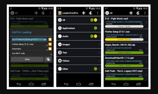 Aplikasi Download Manager Android - Loader Droid