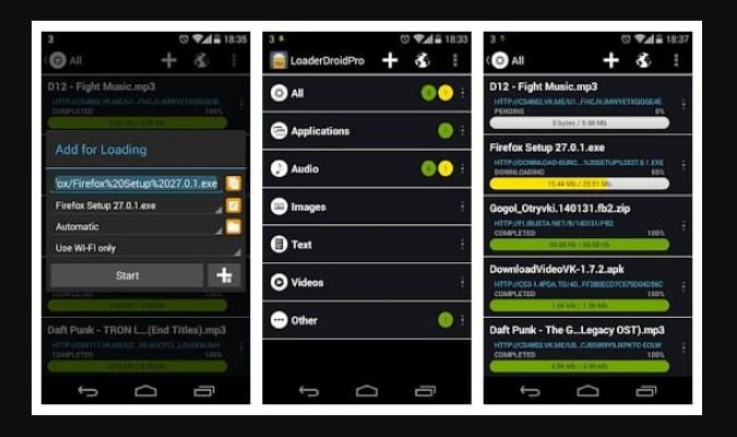 Aplikasi Download Manager Android - Loader Droid