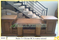 Bufet Tv ukiran Kayu Jati Model BCA finishing Natural