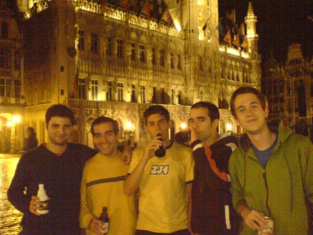 En la grand place de Bruselas