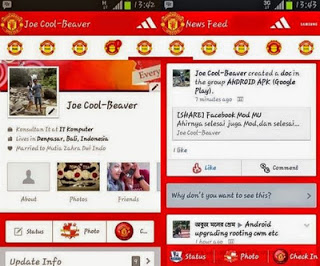 facebook theme Manchester United
